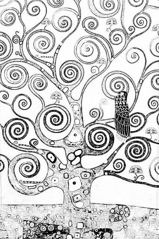 Klimt coloriage attention blog contagieux - Coloriage delaunay ...