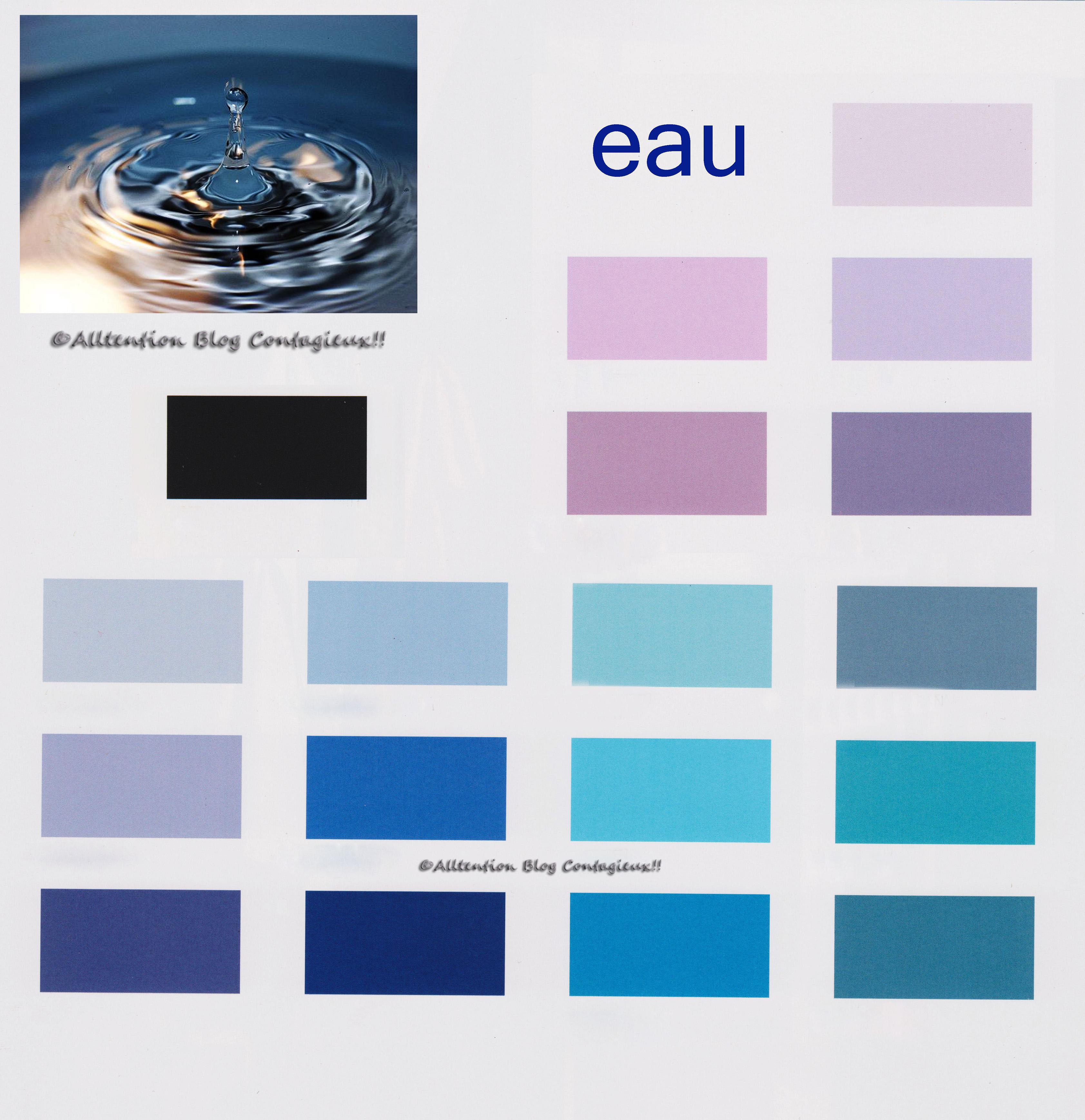 Chambre Fille Bleu Et Violet : Les couleurs  bleu et ses dérivés, parme, lilas (violet clair) noir